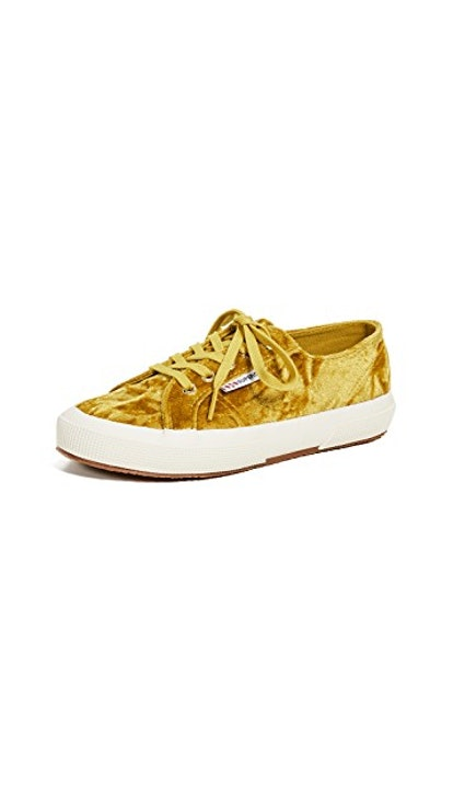 Superga 2750 Crushed Velvet Lace Up Sneakers