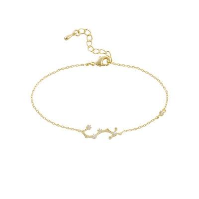 Scorpio Zodiac Gold Bracelet
