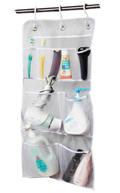 Misslo Hanging Mesh Pockets Shower Organizer,