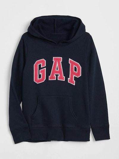 Girl's Logo Hoodie Sweatshirt in Fleece