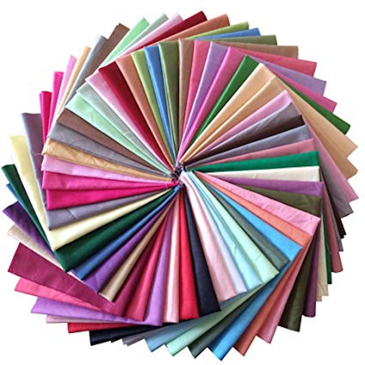 longshine-us Premium Cotton Craft Fabric Bundle Squares