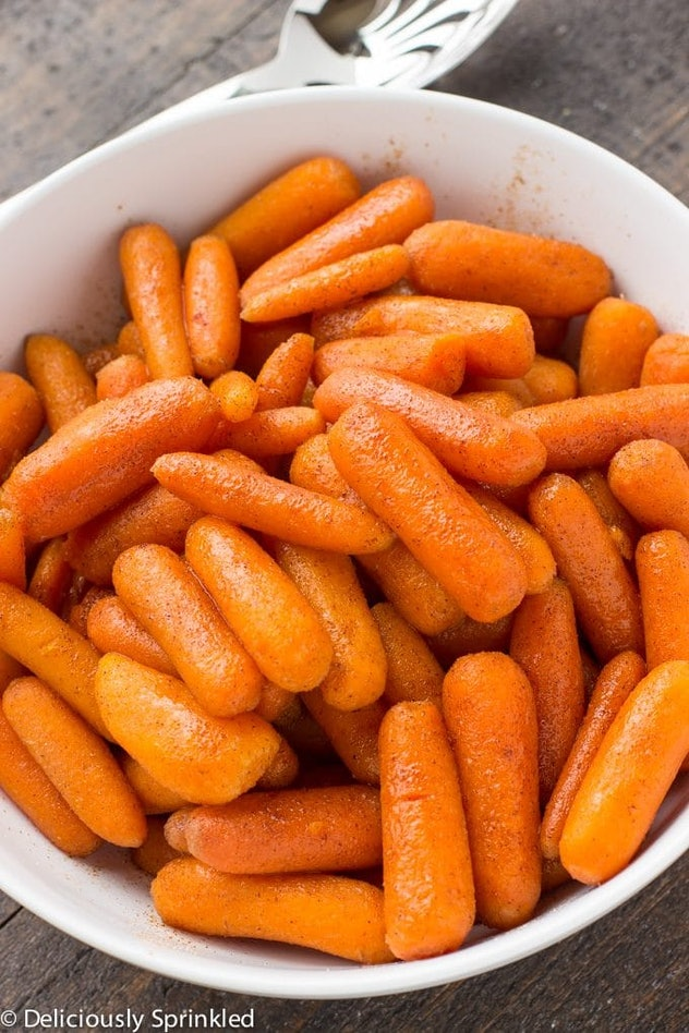This recipe for brown sugar glazed carrots is an easy Instant Pot recipe to make for Friendsgiving 2019.