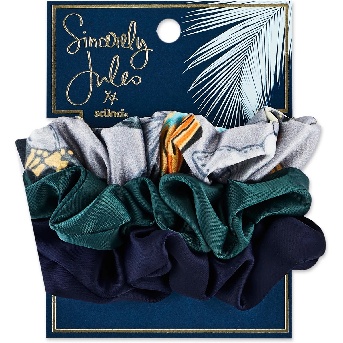 Sincerely Jules by Scünci Satin & Printed Scrunchies - 3pk