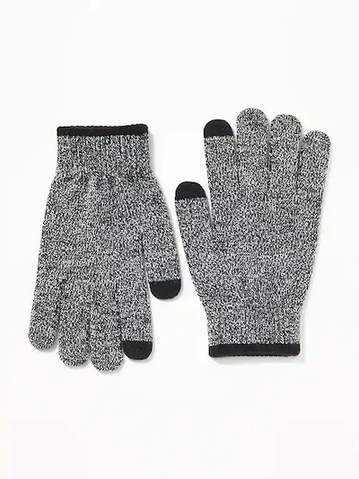 Sweater-Knit Text-Friendly Gloves for Boys