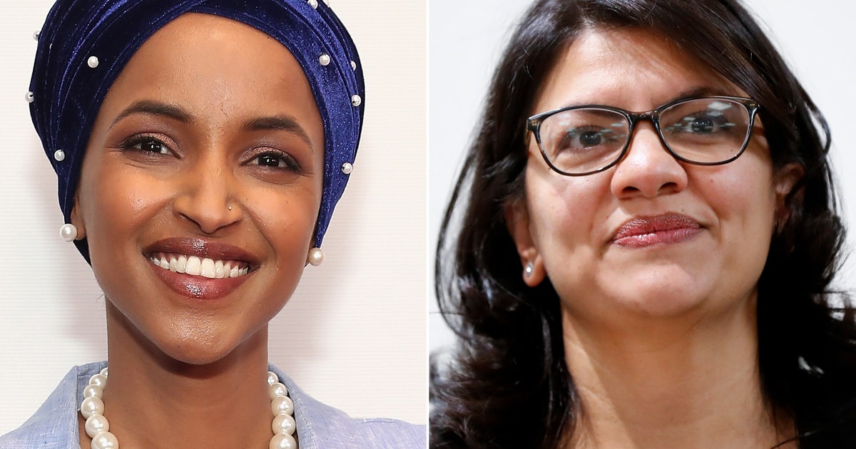 Ilhan Omar dan Rashida Tlaib (Astrid Stawiarz/Getty Images for Tribeca Film Festival / Paul Sancya/AP/Shutterstock --via Bustle.com)