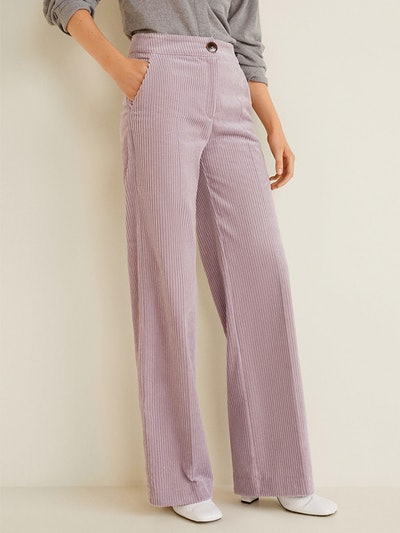 Corduroy Straight Trousers
