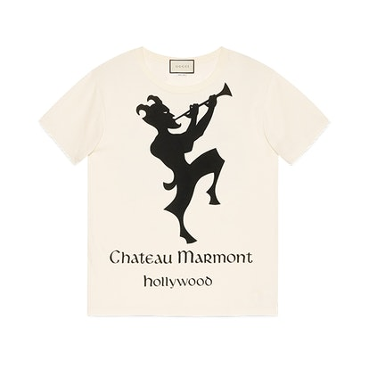 Oversize T-shirt with Chateau Marmont print