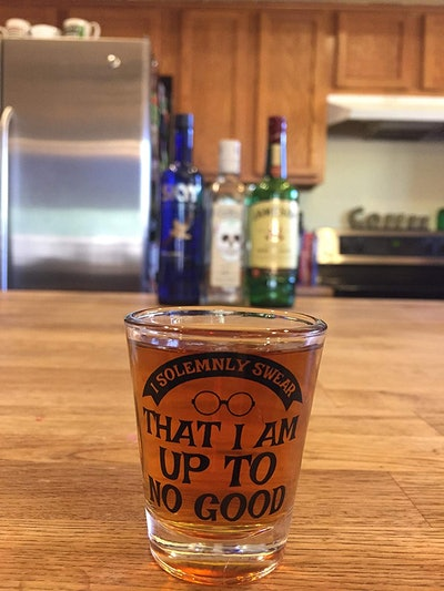 Inspired by Harry Potter Shot Glass - I Solemnly Swear - Mischief Managed