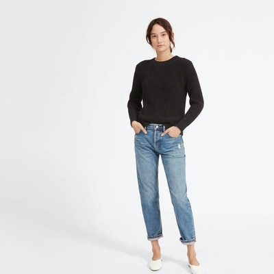 The Relaxed Boyfriend Jean in Distressed Blue