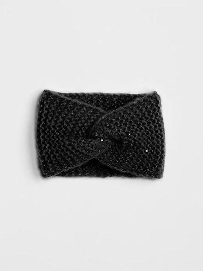 Metallic Knit Head Wrap