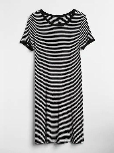 Short Sleeve Ribbed T-Shirt Dress