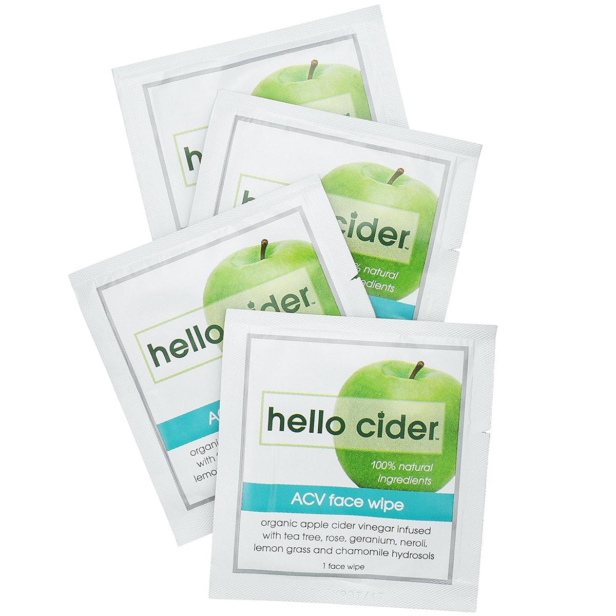 Hello Cider Organic Apple Cider Vinegar Face Wipes