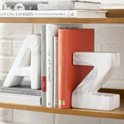 """""""A"""" and """"Z"""" Ceramic Book Ends"""