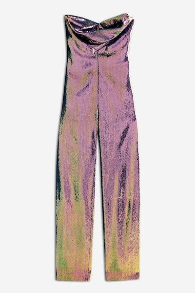 Hologram Sequin Jumpsuit by Topshop x Halpern