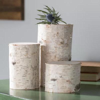 Mahle 3 Piece Decorative Birch Pillar Set