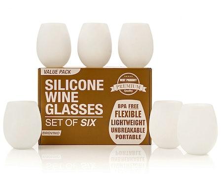 Brovino Silicone Wine Glasses (set of 6)