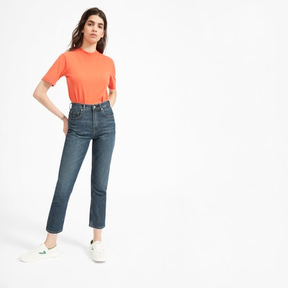 The Cheeky Straight Ankle Jean in Faded Indigo Wash