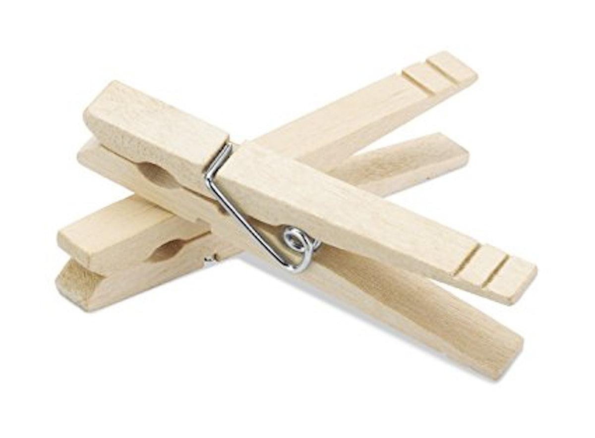 Whitmor Natural Wood Clothespins