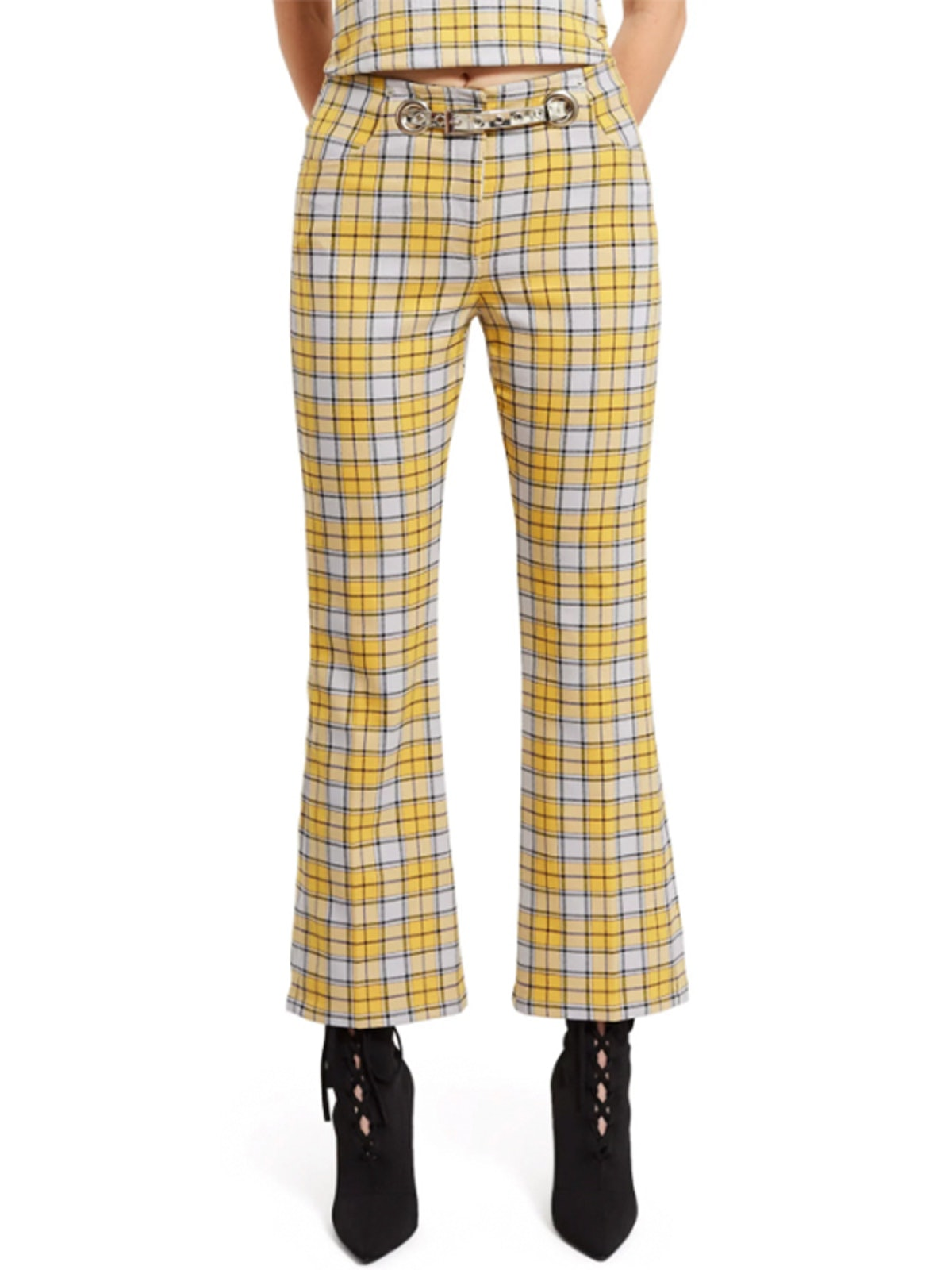 Yellow Plaid Morgan Pants
