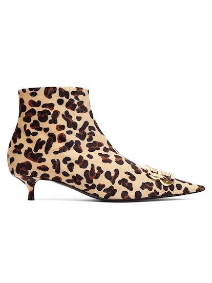 Leopard Velvet BB Ankle Boots