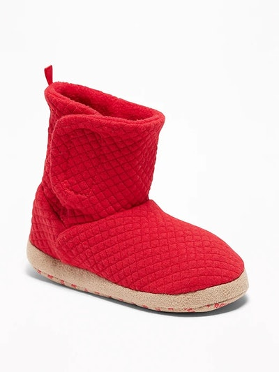 Quilted Jersey Bootie Slippers for Toddler