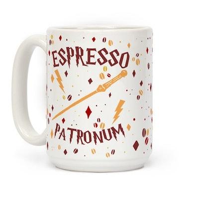 Espresso Patronum (Wand) White 15 OZ Coffee Mug