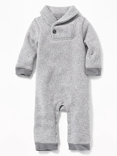 Shawl Collar One Piece For Baby