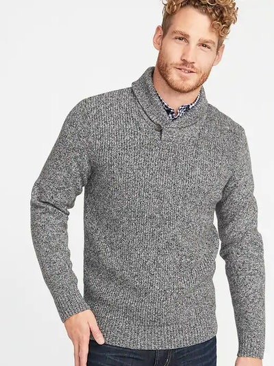 Shawl Collar Sweater For Men