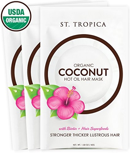 ST. TROPICA Coconut Oil Hair Mask (Set of 3)