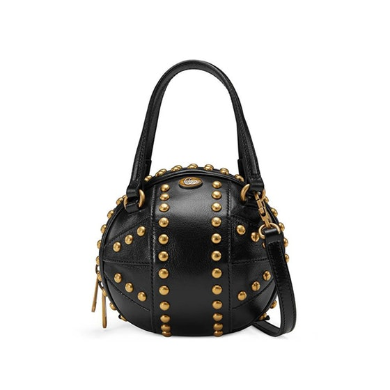 Basketball shaped mini shoulder bag