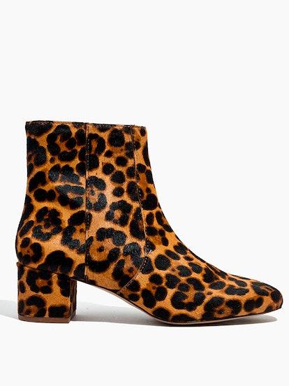 The Jada Boot In Leopard Calf Hair