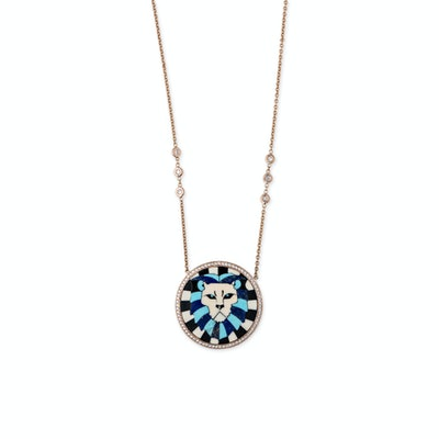 Leo Inlay Necklace