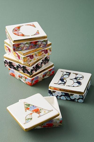 Monogram Lidded Jewelry Box