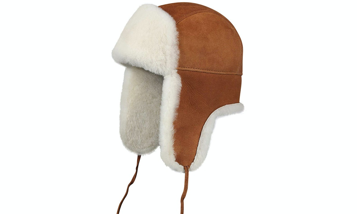 Zavelio Leather Aviator Hat