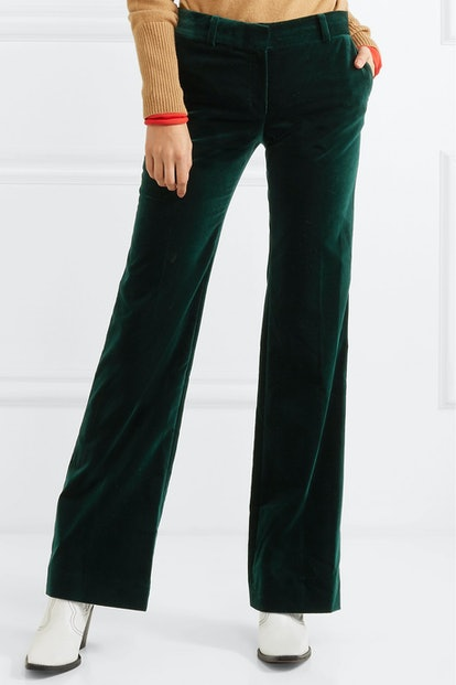1976 Cotton-Velvet Flared Pants
