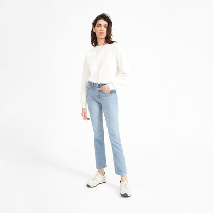 The Cheeky Straight Jean in Sky Blue