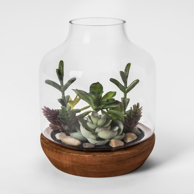 Faux Succulent Garden in Vase - Threshold™