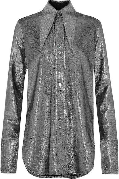 ELLERY Joplin Lamé Shirt