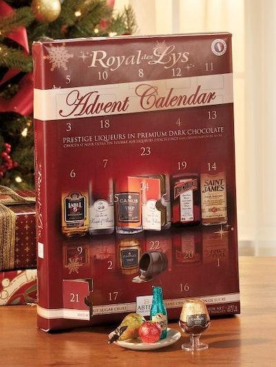 Royal Des Lys Liqueur Chocolate Advent Calendar By Abtey