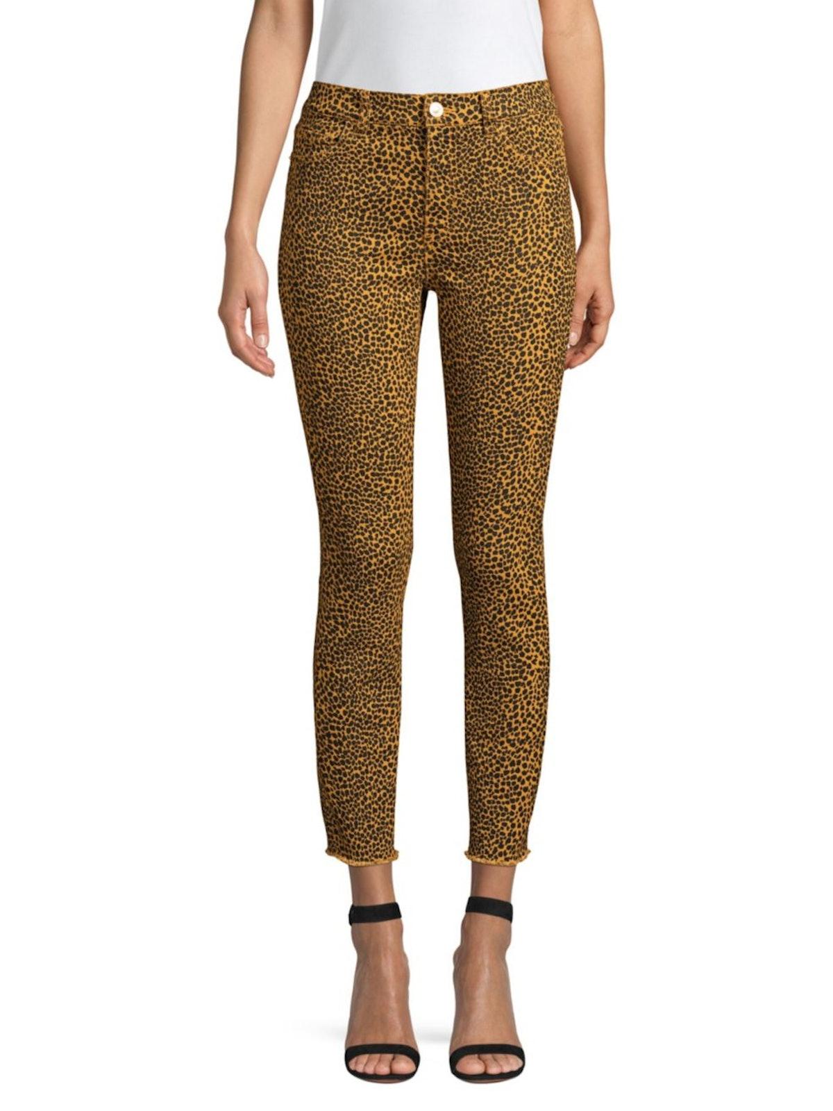 Current/Elliott The High-Waist Stile Leopard Jeans