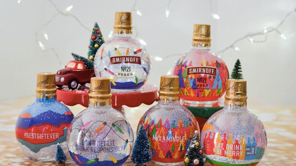 Smirnoff Has Vodka-Filled Ornaments You Can Hang On Your Christmas Tree This Year