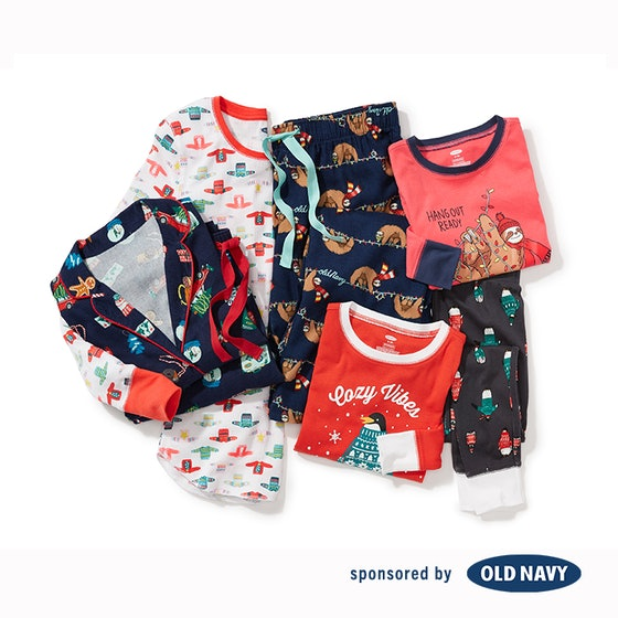 Patterned Flannel Pajama Set