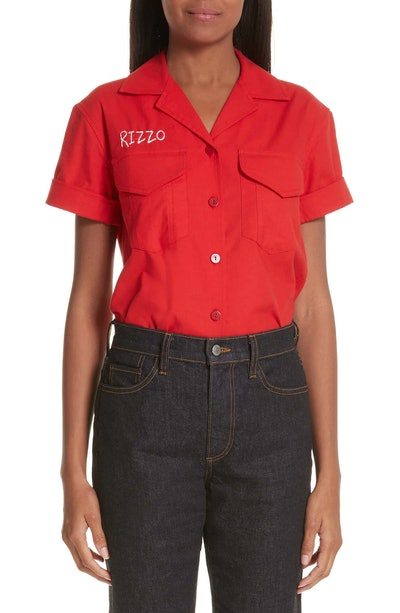 Simon Miller x Paramount Grease Rizzo Embroidered Mechanic Shirt