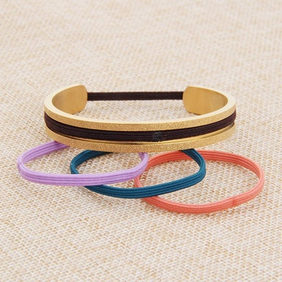 Zuo Bao Stainless Steel Elastic Hair Tie Bracelet