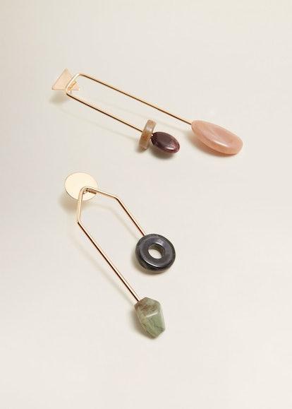 Mixed asymmetric earrings