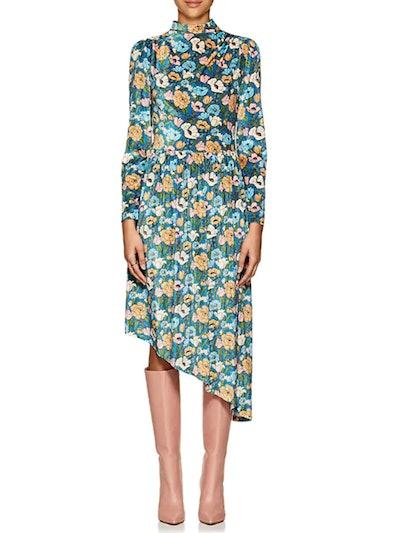 De Heem Floral Velvet Dress