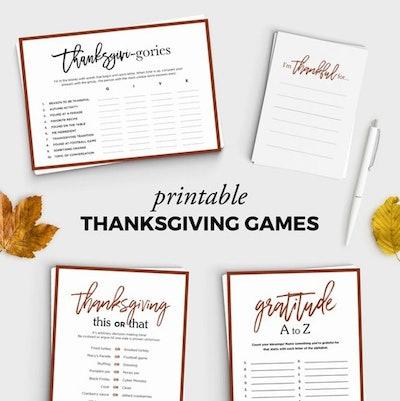 Thanksgiving Games Bundle