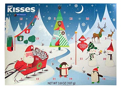 2018 Hershey's Kisses Milk Chocolate Christmas Advent Countdown Calendar With Candy