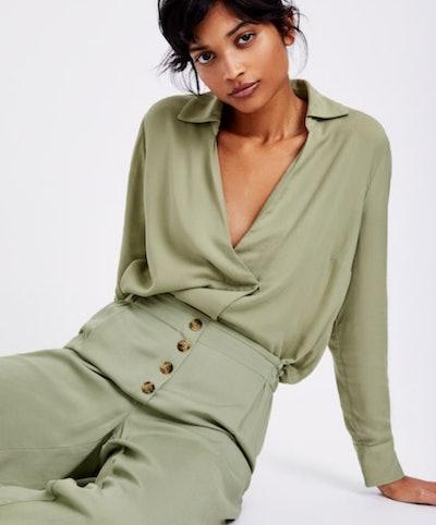 Plain Green Trousers/Plain Green Top