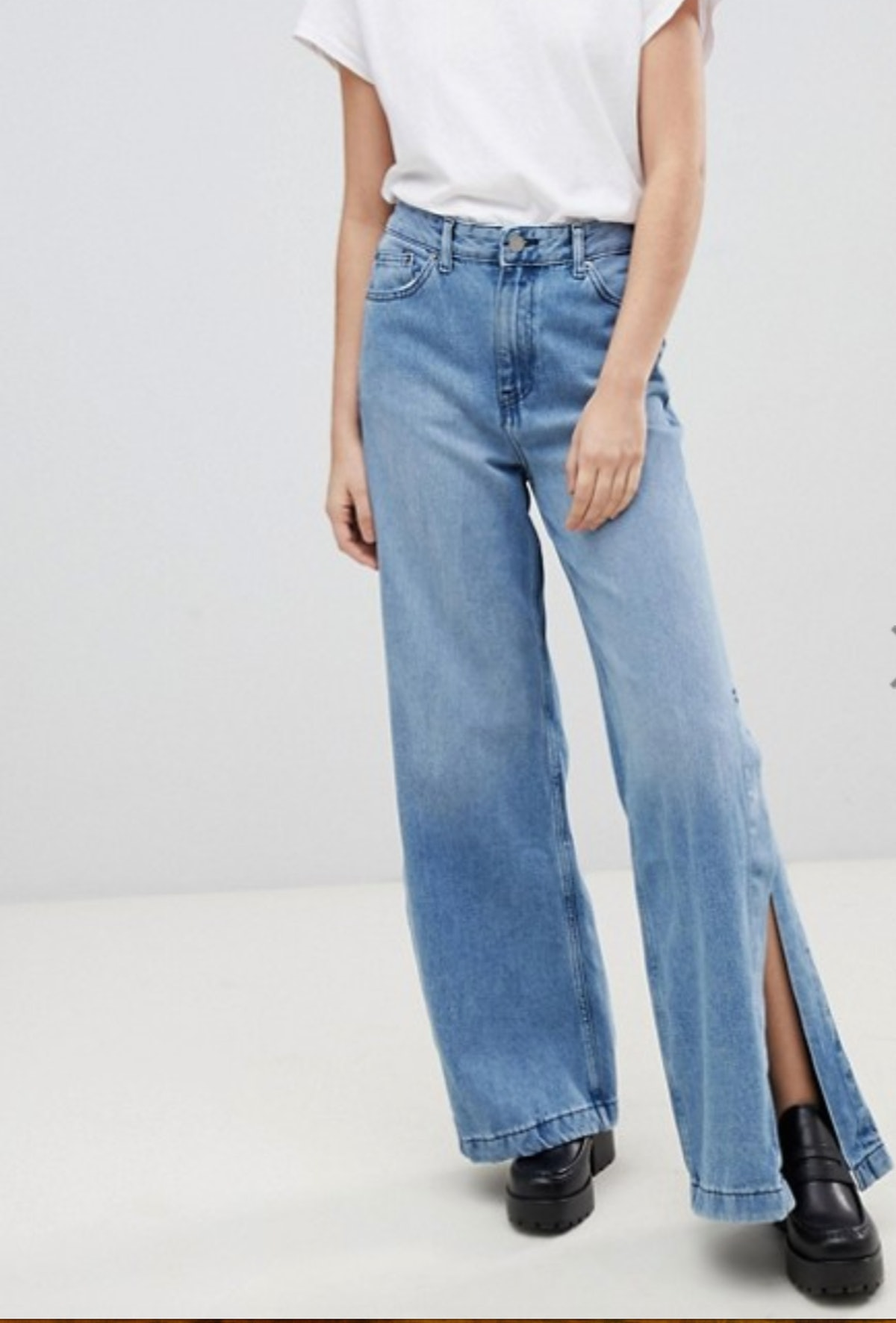 Dr Denim high rise wide leg jean with side detail